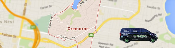 map of locksmith service area cremorne NSW