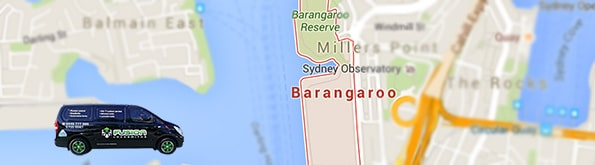 Service area map for Barangaroo