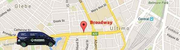 map for locksmith service in broadway