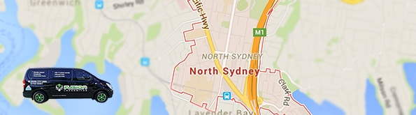 Locksmith service area map for North Sydney