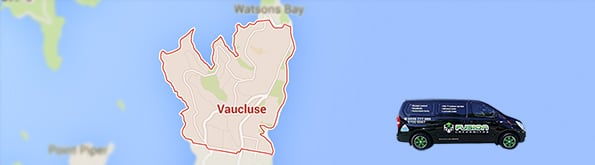 Locksmith service area map for Vaucluse