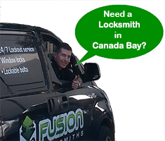 Our locksmith Josh in his van at Canada Bay
