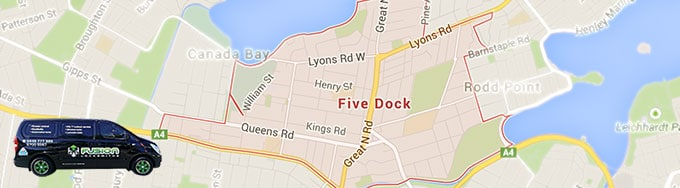 In Five Dock? Give us a call now and we'll come to you.