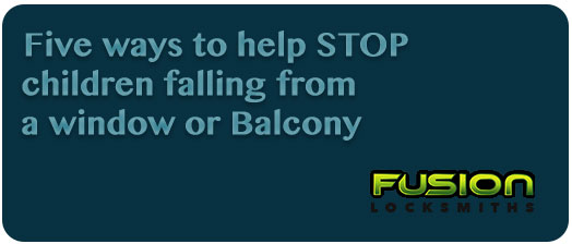 five ways to help stop children falling from a window or balcony
